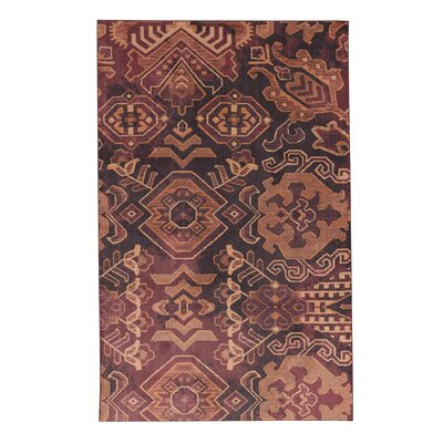 Dario Plum/Brown Area Rug Rug Size: Rectangle 5 x 8