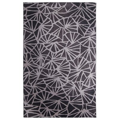 Pauling Charcoal/Gray Area Rug Rug Size: Rectangle 5 x 8