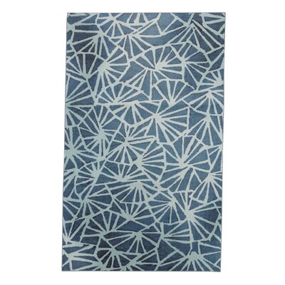 Pauling Navy/Cream Area Rug Rug Size: Rectangle 5 x 8