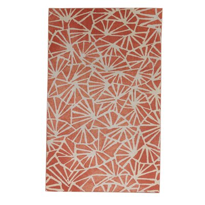 Pauling Orange/Cream Area Rug Rug Size: Rectangle 8 x 10