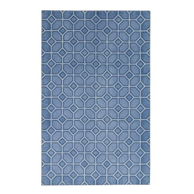 Pauling Garden Trellis Cornflower Blue/Ivory Area Rug Rug Size: Rectangle 8 x 10