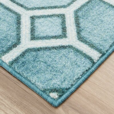 Pauling Trellis Teal Area Rug Rug Size: Rectangle 8 x 10