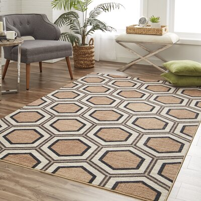 Pauling Honeycomb Geometric Charcoal/Taupe Area Rug Rug Size: Rectangle 8' x 10'