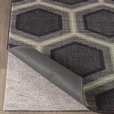 Pauling Honeycomb Geometric Black/Gray Area Rug Rug Size: Rectangle 8 x 10