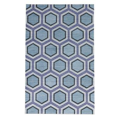 Pauling Honeycomb Geometric Sky Blue/Purple Area Rug Rug Size: Rectangle 5 x 8