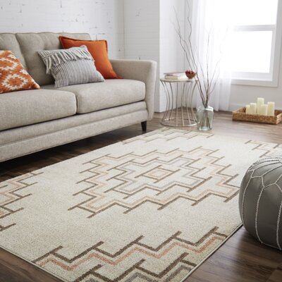 Pauling Neutral Beige Area Rug Rug Size: Rectangle 5 x 8