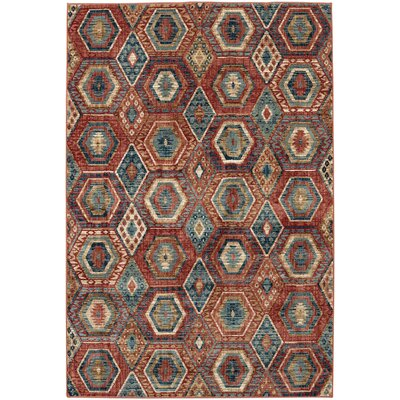 Pelkey Red Area Rug Rug Size: Rectangle 96 x 1211