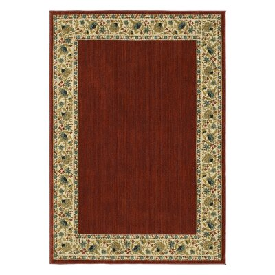 Rabon Burgundy/Ivory Area Rug Rug Size: Rectangle 8 x 10