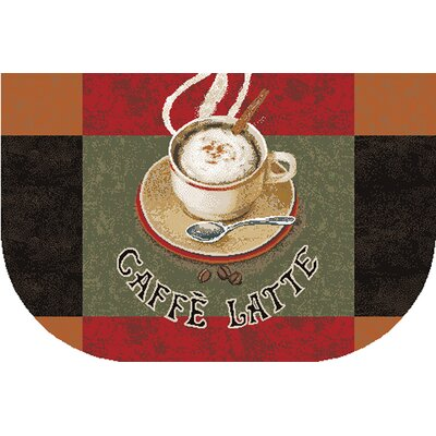 New Wave Kitchen Caffe Latte Area Rug Rug Size: Slice 16 x 26