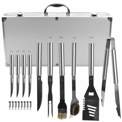 19 Piece Heavy Duty BBQ Set with Case 75-4274B