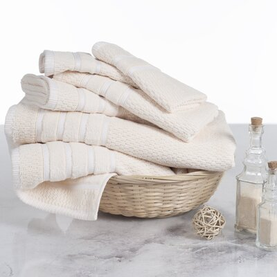 Tyshawn Weave 6 Piece Towel Set Color: Ivory