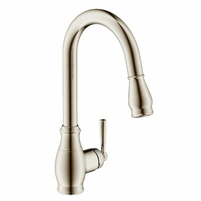 Artia Single Handle Kitchen Faucet Finish: Brushed Nickel