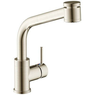 Tasimo Single Handle Kitchen Faucet with Lever Handle Finish: Brushed Nickel