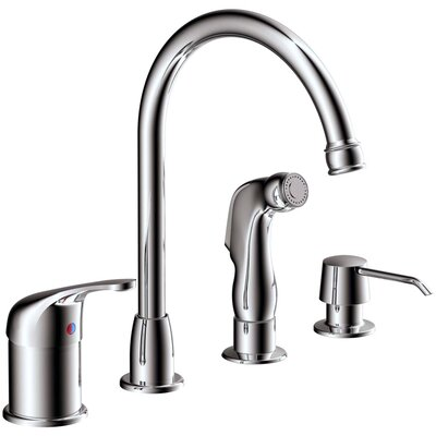 Aviera Single Handle Kitchen Faucet with Lever Handle Finish: Chrome