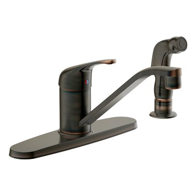 Avio Single Handle Kitchen Faucet with Lever Handle Finish: Brushed Bronze