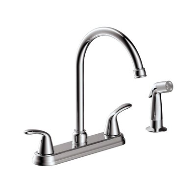 Tavianno Double Handle Kitchen Faucet with Lever Handle Finish: Chrome