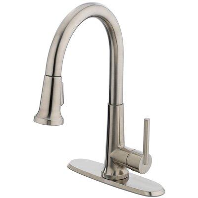 Ancona One Handle Centerset Bar Kitchen Faucet Finish: Brushed Nickel