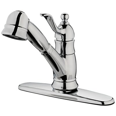 Poetto One Handle Centerset Pull-Out Bar Kitchen Faucet Finish: Chrome