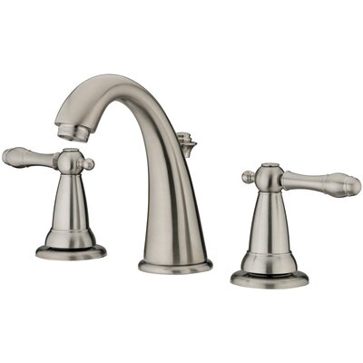 Varese Widespread Bathroom Faucet with Double Handles Finish: Brushed Nickel