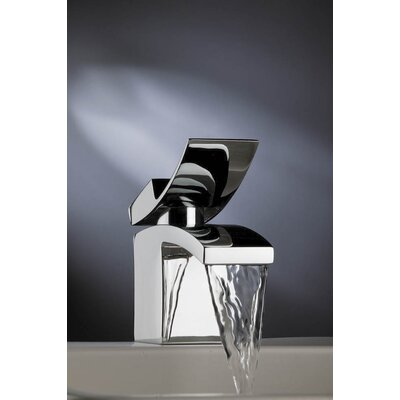 Quarto Single Hole Waterfall Bathroom Faucet with Single Handle Finish: Chrome