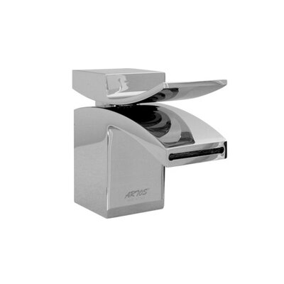 Quarto Single Hole Waterfall Faucet with Single Handle Finish: White