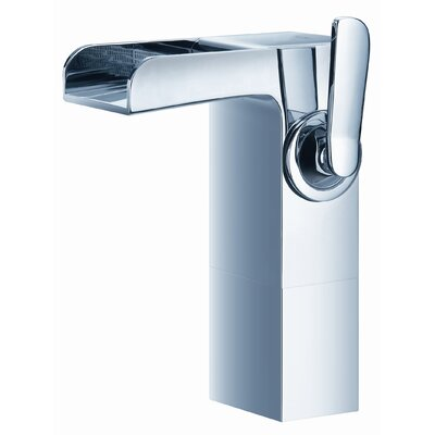 Kascade Single Hole Waterfall Bathroom Sink Faucet with Single Handle Finish: Brushed Nickel