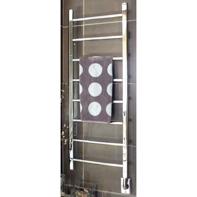 Ryton Towel Warmer Finish: Brushed Nickel, Size: 26 H x 24 W, Type: Plug-In