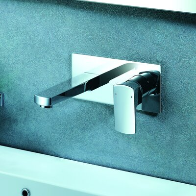 Safire Wall Mounted Bathroom Faucet with Single Lever Handle Finish: Chrome