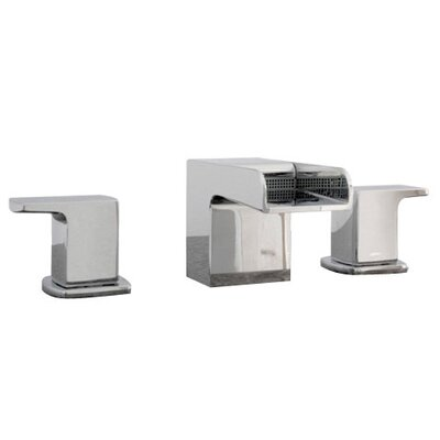 Kascade Widespread Bathroom Sink Faucet with Cold and Hot Handles Finish: Brushed Nickel
