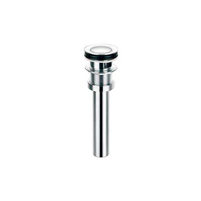 1.25 Toe touch Bathroom Sink Drain With Overflow Finish: Brushed Nickel