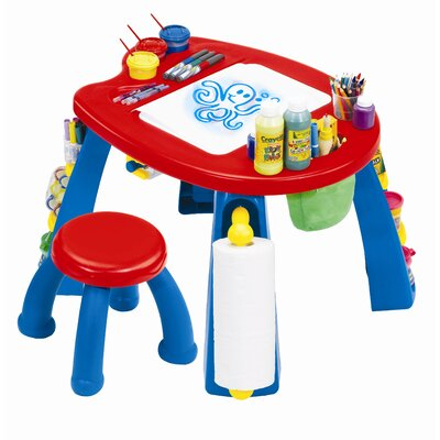 Crayola Creativity Play Station Kids' 2 Piece Table and Stool Set 5039