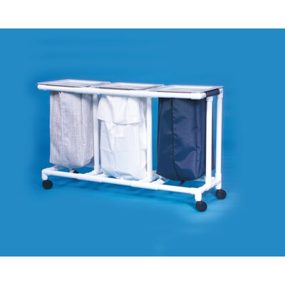 Innovative Products Unlimited Triple Linen Hamper - Mesh Bag Color: Wineberry at Sears.com