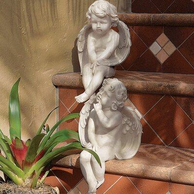 Angels of Meditation and Contemplation 2 Piece Statue Set