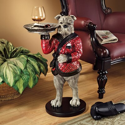 Rex, the Bachelor Bulldog Sculptural End Table