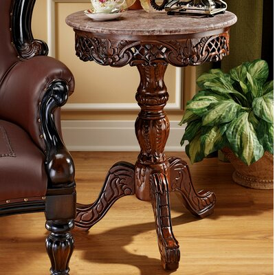 Chantret Marble Topped End Table