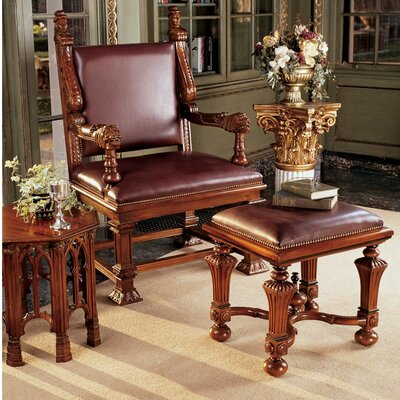 Lord Cumberlands Throne Armchair and Footstool Set