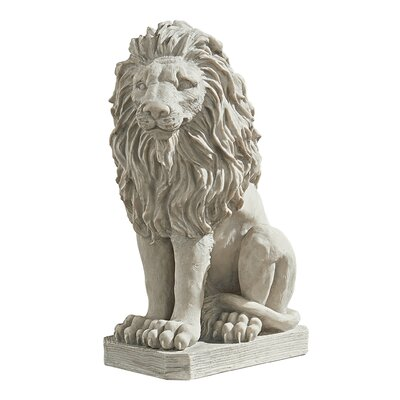 Mansfield Manor Lion Sentinel Statue Quantity: Single