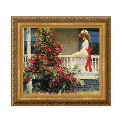 The Crimson Rambler, 1908 by Philip Leslie Hale Framed Painting Print on Canvas Size: Small DA4611