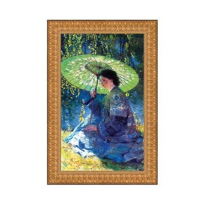 The Green Parasol, 1909 by Guy Rose Framed Painting Size: Small
