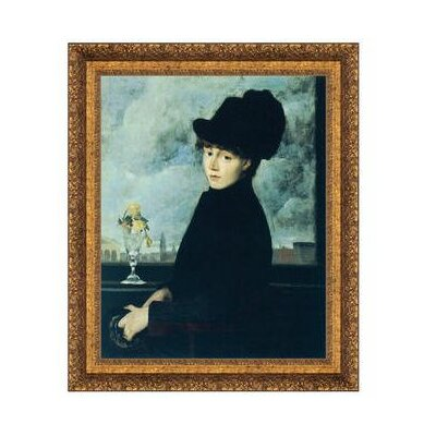 Against the Window, 1884 Framed Painting Print on Canvas Size: Large DA4503
