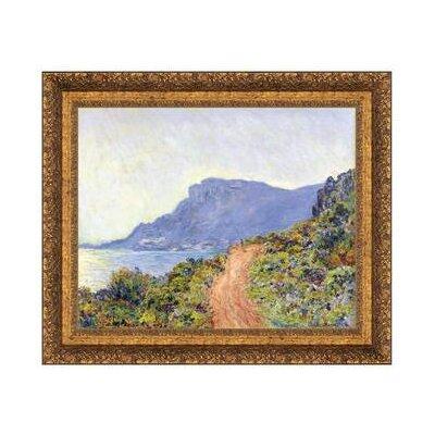 La Corniche at Monaco, 1884 by Claude Monet Framed Painting Print on Canvas Size: Grande DA4764