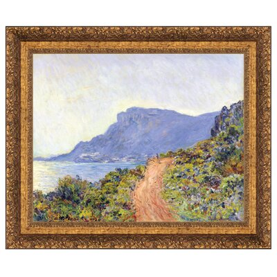 La Corniche at Monaco, 1884 by Claude Monet Framed Painting Print on Canvas Size: Small DA4761
