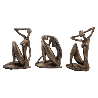 3 Piece Angular Energy Nude Woman Figurine Set QS9228594