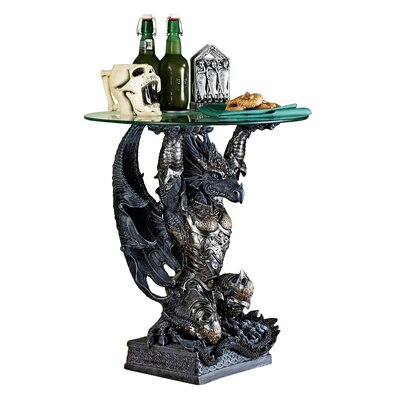 Hastings the Warrior Dragon Sculptural End Table