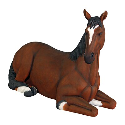 Resting Life-Size Quarter Horse Filly Statue NE120059