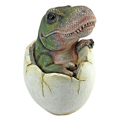 Baby Tyrannosaurus Rex Dino Egg Sculpture QM2728000