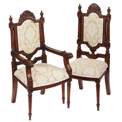Salon Des Rosiers 2 Armchairs And 4 Side Chair Set