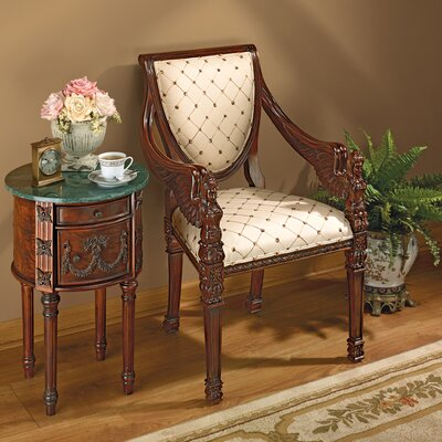 St. Gabriel Neoclassical Arm Chair