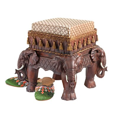 The Maharajahs Elephants Sculptural Ottoman