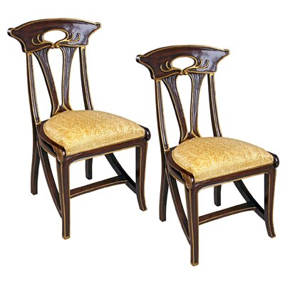 Majorelle Golden Art Nouveau Side Chair